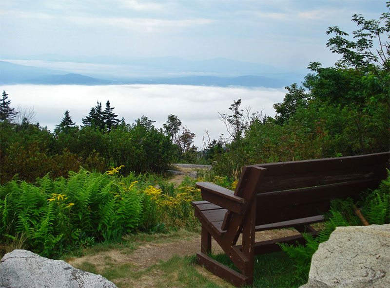 The summit of Mt. Ascutney offers breathtaking views