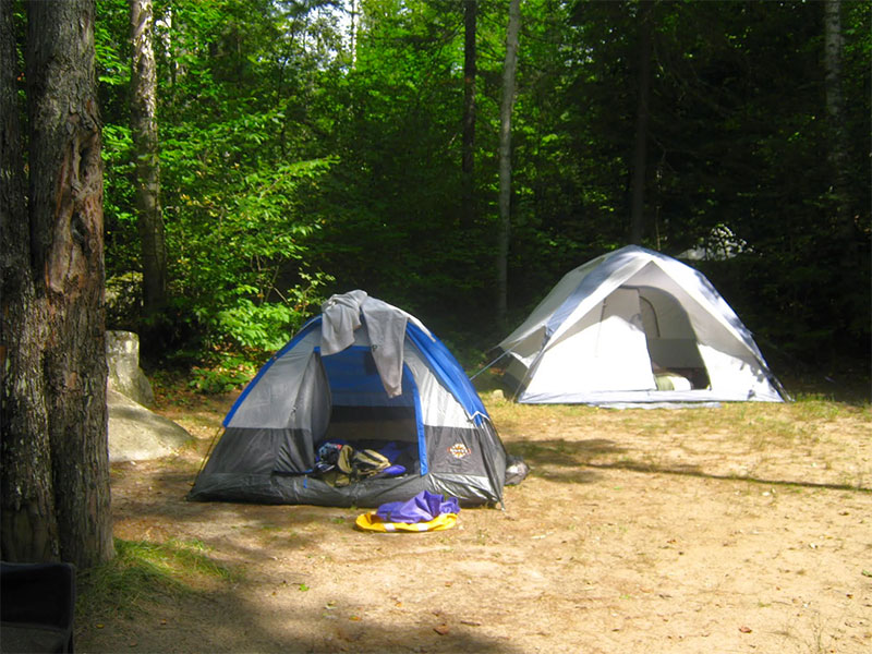 A tent-site at Big Deer State Park