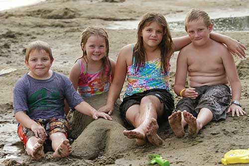 Fun on the beach at Alburgh Dunes State Park
