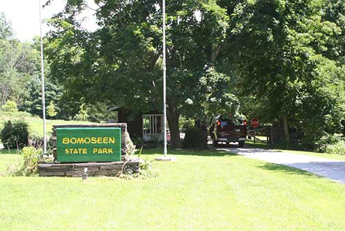 Park entrance at Bomoseen State Park