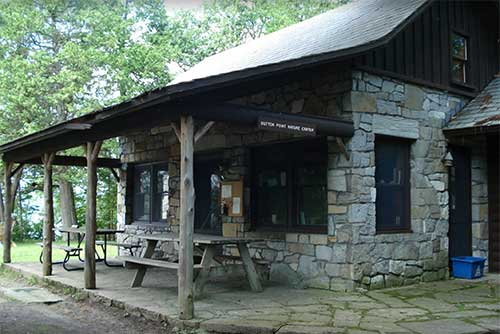 The nature center at Button Bay State Park