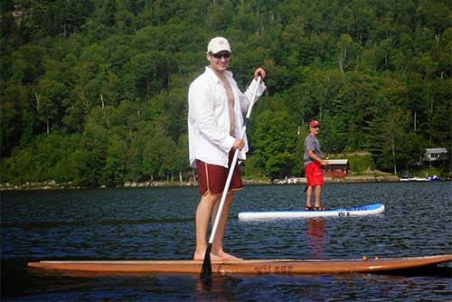 Stand-up paddleboarding fun at Crystal Lake State Park (photo credit: Renee McWilliams)