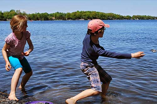 Skipping stones at Grand Isle State Park (photo credit: Alison Joseph)