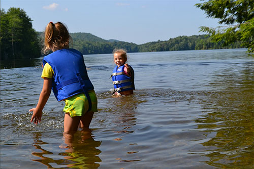 Cool, clean water is great to play in at Green River Reservoir State Park (photo credit: Alexandra Martin)