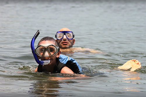 Snorkeling at Little River State Park (photo credit: Lene Gary)
