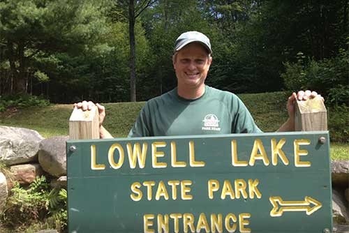 Staff are excited to welcome visitors at Lowell Lake State Park