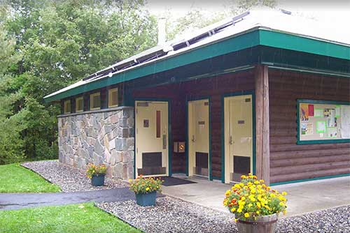 Restrooms at Molly Stark State Park