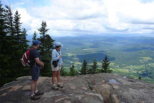 Enjoying the view from the top of Mt. Ascutney