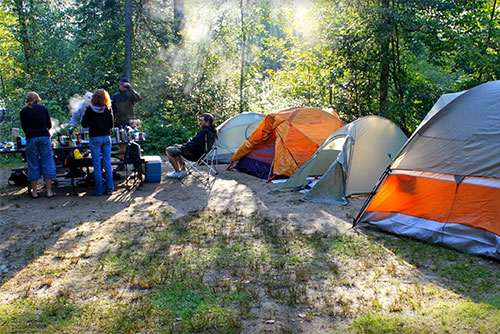 Group camping at Stillwater State Park (photo credit: Lene Gary)