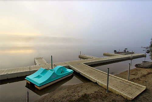 Dock side mist at Stillwater State Park (photo credit: Lene Gary)