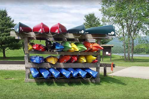 Boats for rent at Waterbury Center State Park