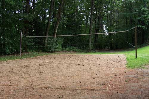 The volleyball net at Wilgus State Park