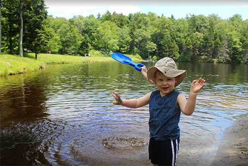 Playing in water is fun at Woodford State Park (photo credit: Jess Lubas)