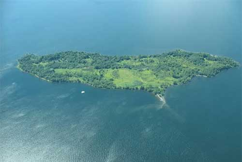 An aerial view of Woods Island