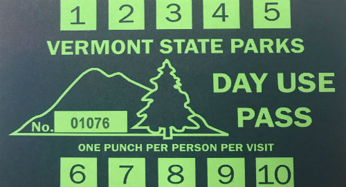VT State Parks punch card
