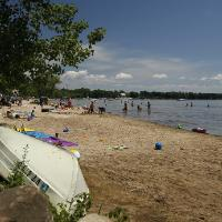 Visitors enjoy Alburgh Dunes State Park