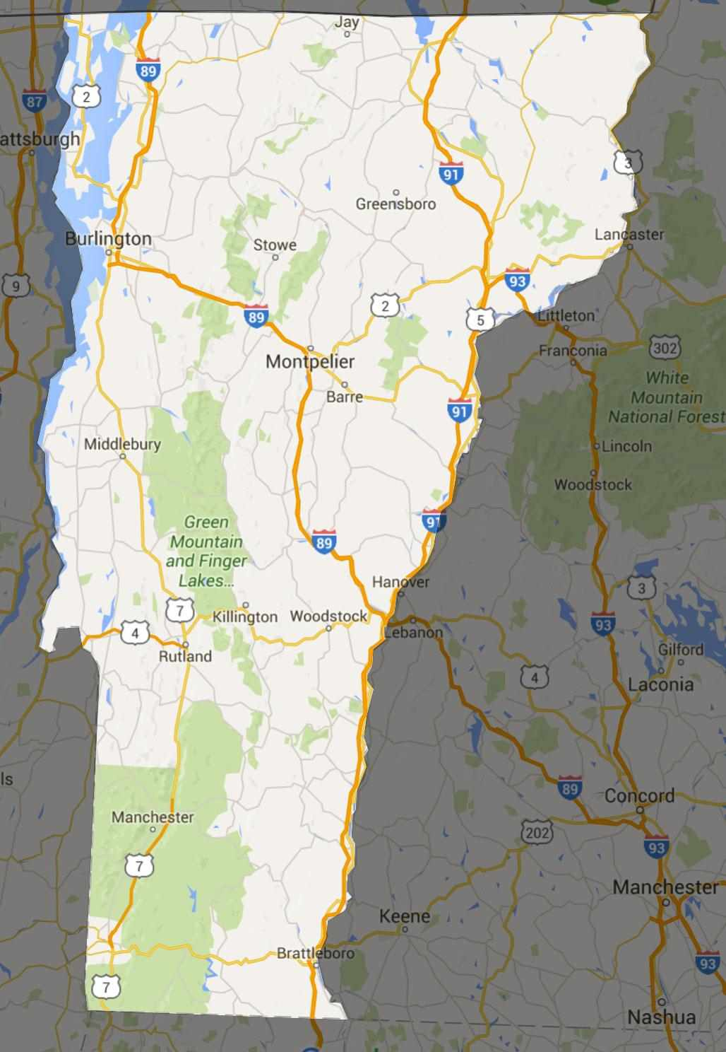 VT State Interactive Map